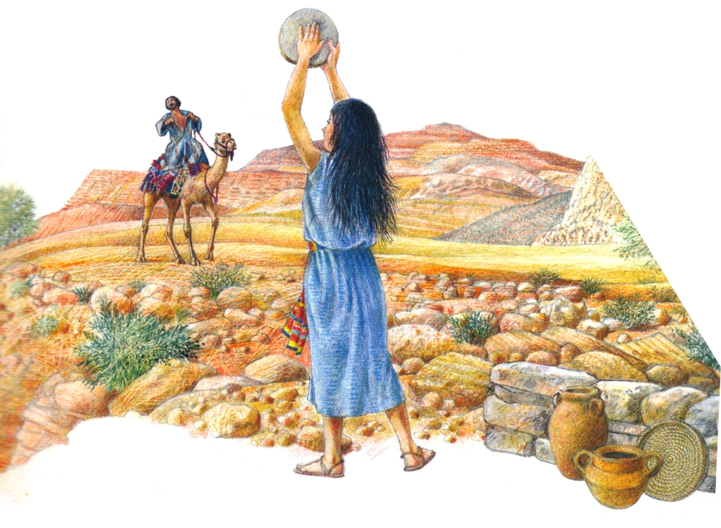 Jefta promises Yahweh to offer the first thing he meets when he gets home and it happens to be his daughter.